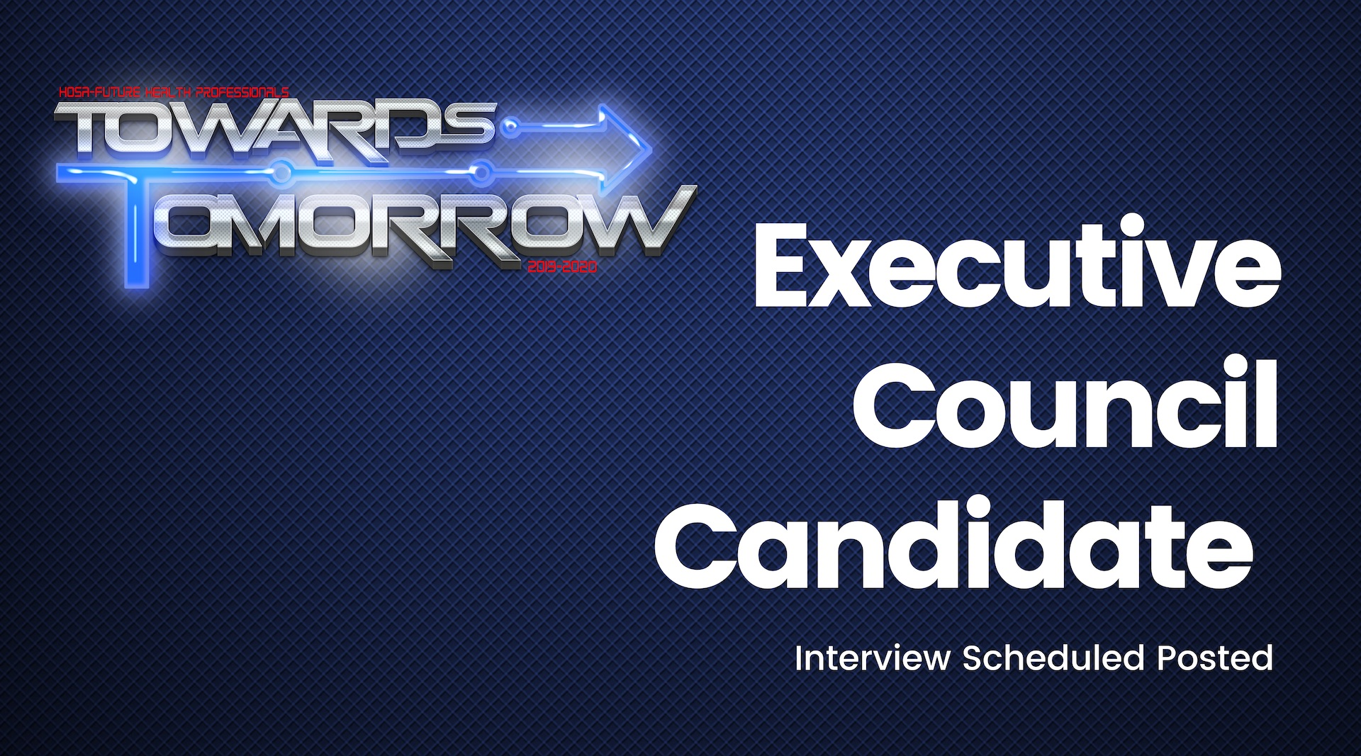 Executive Council Candidate Interview Schedule